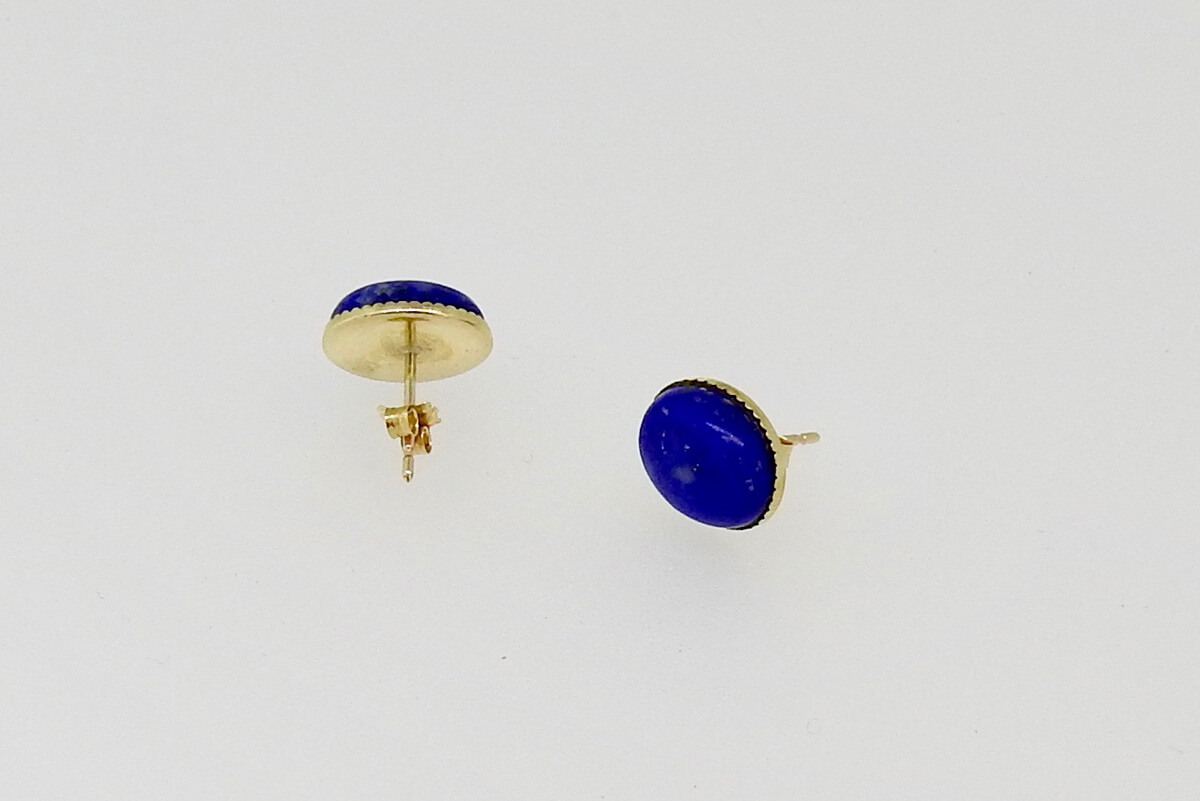 Jackie Ribbons - Lapis Lazuli Earrings