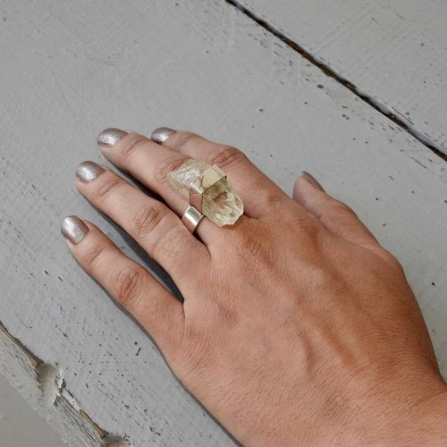 Jackie Ribbons - Hiddenite Ring